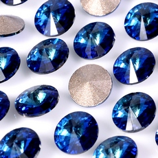 Strass Rivolli Swarovski art. 1122 base conica Bermuda Blue SS29D6,20mm