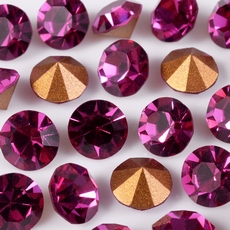 Strass Oktant base conica Fuchsia SS26D5,60mm