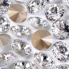 Strass Rivolli Swarovski art. 1122 base conica Cristal 12mm