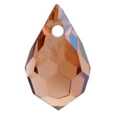 Gota Drops Pingente LDI Cristais art. 45151 Light Peach Bronze 10x6mm