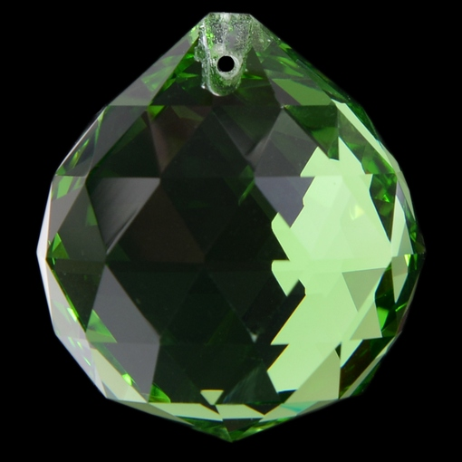 Bola Pingente K9 LDI Cristais art. 72 Emerald 60mm