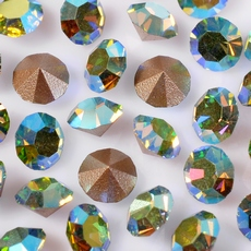 Strass Mc Chaton Optima Preciosa art. 431 11 111 base conica Peridot Aurora Boreal SS 8,5  2,40mm