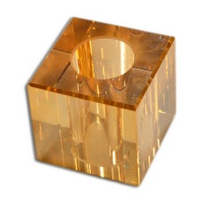 Cubo K9 LDI Cristais art. 37 Cristal Honey Dourado 25x25mm furo com 12mm