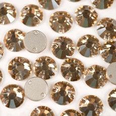Strass Chaton Rose para costura Preciosa art. 438 61 613 Cristal Honey 8mm