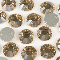Strass Chaton Rose para costura Preciosa art. 438 61 613 Cristal Honey 12mm