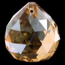Bola Pingente K9 LDI Cristais art. 72 Cristal Honey Dourado 20mm