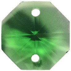 Castanha K9 LDI Cristais art. 60 Emerald 2 furos 14mm