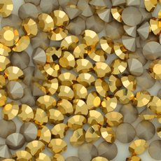 Strass Mc Chaton Maxima Preciosa art. 431 11 615 base conica Cristal Aurum SS20  4,60mm